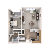 La Loma Village   Apartment B1